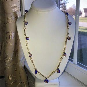 Long Millefiori Bead Vintage Necklace